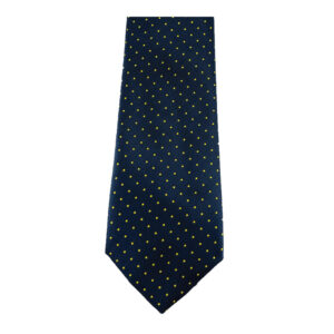 showquest-pin-spot-tie-navy-yellow